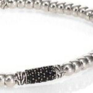 John Hardy  Bedeg Silver Lava Beaded Bracelet